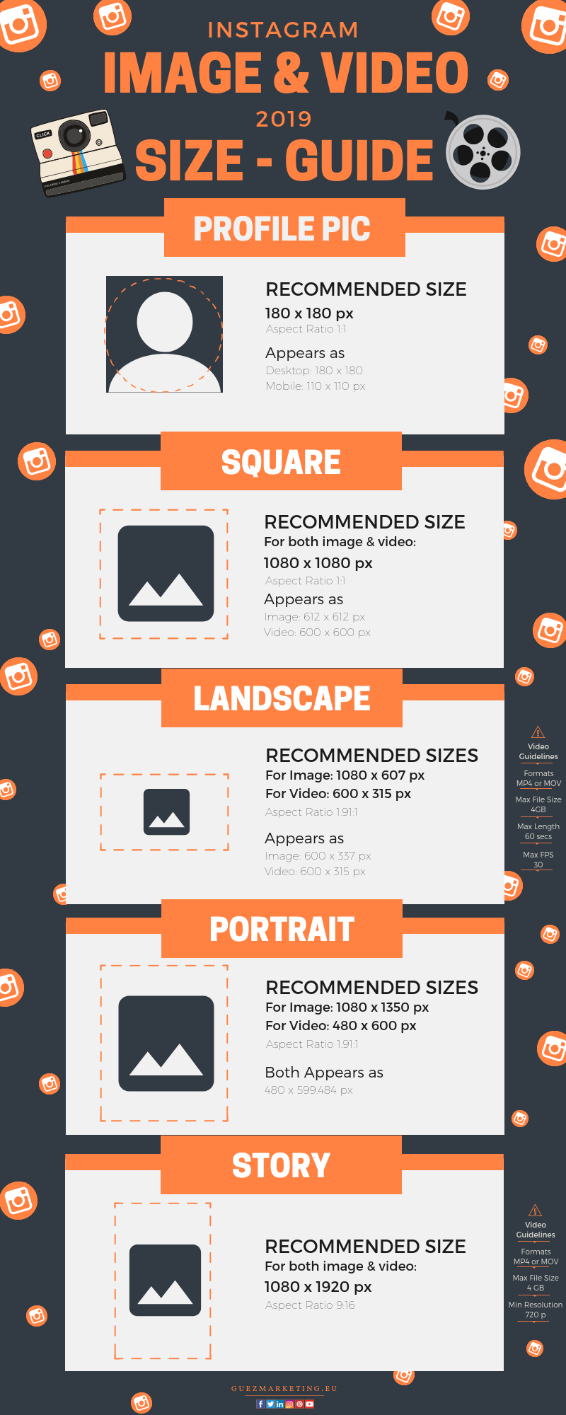 Instagram Image and Video Size Guide 2019 | Guez Marketing